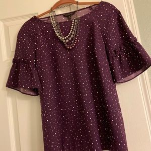 Banana Republic Maroon dotted blouse